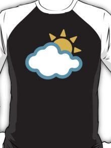 Sun Behind Cloud Google Hangouts / Android Emoji T-Shirt