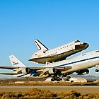 Space Shuttle Endeavour Departs Edwards AFB on 747 SCA by gfydad