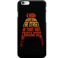 A man walks down the street... iPhone Case/Skin