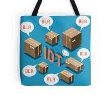 Isometric Internet of Things Concept Tote Bag