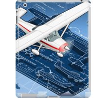 Isometric Infographic Airplane Blue Print iPad Case/Skin