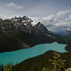 Banff National Park, Peyto Lake by Brendan Schoon