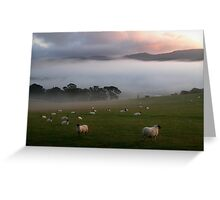 mist in the valley Greeting Card
