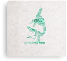 Cosima Microscope Typography Canvas Print