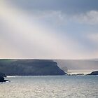 Sunbeams on the Cornish Coast by secondcherry