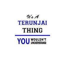 It's a TERUNJAI thing, you wouldn't understand !! Photographic Print