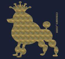 King poodle - Königspudel - dog, crown, cute, funny Kids Clothes