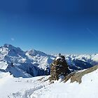 Cross, French Alps by Peak Photographics