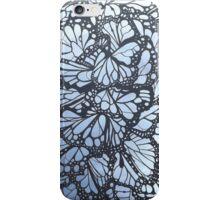 Purple butterfly stained glass window iPhone Case/Skin