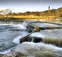 Settle Weir, River Ribble by Steve  Liptrot