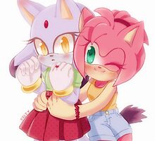 Amy Rose & Blaze the Cat (Sonic the Hedgehog) by SonicIsFree