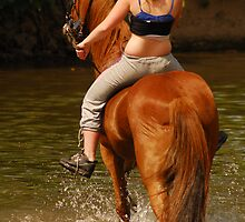 Gypsy Girl on Horseback. by Billlee