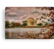 Dawn Over The Jefferson Memorial Canvas Print