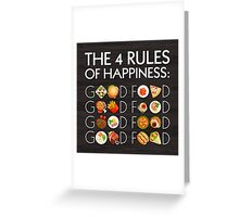 Food Happiness Greeting Card