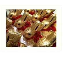 CHOCOLATE EASTER BUNNIES Art Print