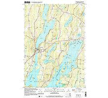 Maine USGS Historical Map Winthrop 103119 2000 24000 Photographic Print
