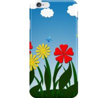 Naive nature scene iPhone Case/Skin