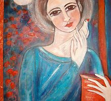 """""""Girl with a song bird"""" by catherine walker"""
