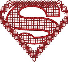 Celtic Superman Logo Black with Red fill by Adamasage