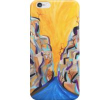 Sunny Canyon, Abstract Southwestern Art, Acrylic Painting iPhone Case/Skin