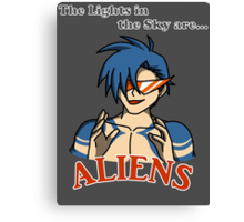 Kamina - The Lights in the Sky are Aliens Canvas Print