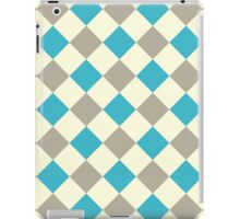 Blue Brown Cream Checkerboard iPad Case/Skin