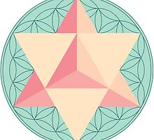 Merkaba with Flower of Life by GalacticMantra
