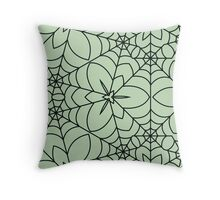 Decorative Spider Web Throw Pillow