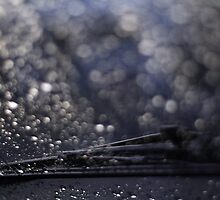 raindrops on windscreen by nickaldridge