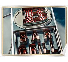 Bar Grill neon sign in NYC - Kodachrome Postcard Poster