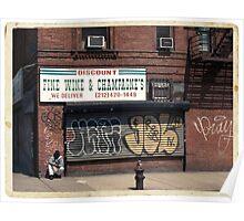 Liquor Store in NYC - Kodachrome Postcard  Poster