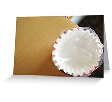 Another Coffee Filter  Greeting Card