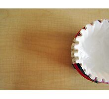 The Last of the Coffee Filters Photographic Print