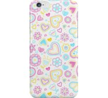 Flowers & Hearts iPhone Case/Skin