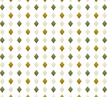 Green And Gold Diamond Pattern by Christina Rollo