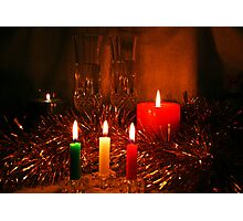 Candlelight and Wine Photographic Print