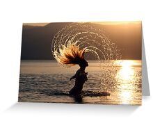 Carefree in the sun and sea Greeting Card