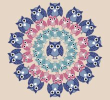 circle of owls T-shirt  by teegs