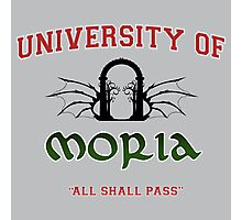 UNIVERSITY OF MORIA  Photographic Print
