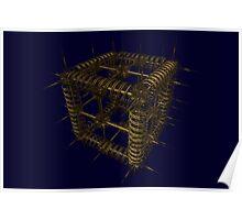 Cubenoid spike Poster