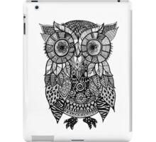 Zentangle Owl iPad Case/Skin
