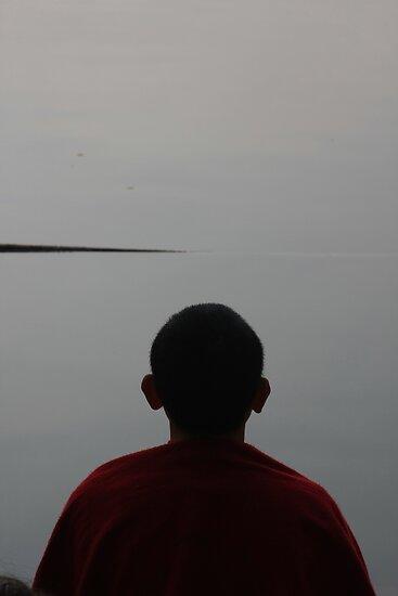 meditation. morning, tso pema, india by tim buckley   bodhiimages