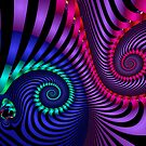 Rainbow spirals by CanDuCreations