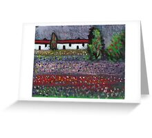 Wild flowers in a field Greeting Card