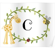Nursery Letters C Poster