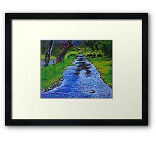 Stream in the garden of Blarney Castle, County Cork, Irish Republic Framed Print