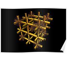 Cubenoid cage balls Poster