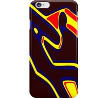 Bird-Man. Surreal creature in an abstract design. iPhone Case/Skin