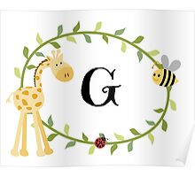 Nursery Letters G Poster
