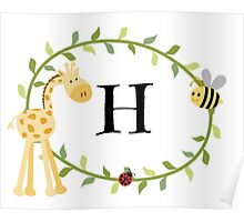 Nursery Letters H Poster